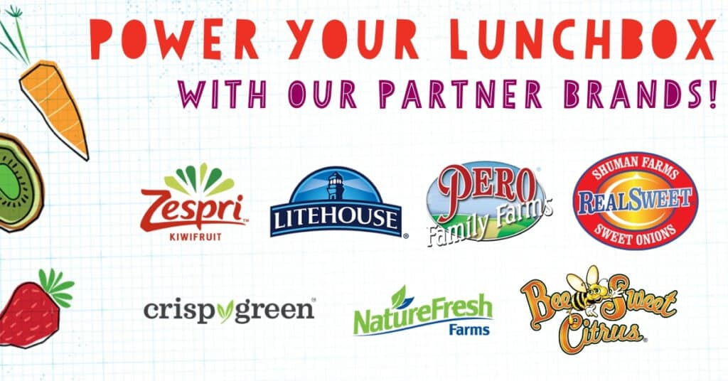 promotional image with sponsor logos for PowerYourLunchbox