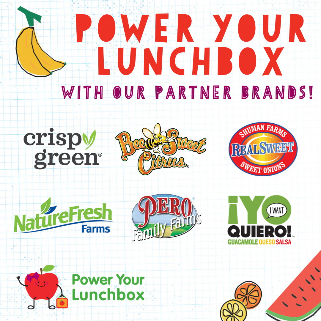 Image of brand logos for Power Your Lunchbox 2021.